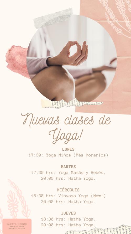 Nuevas clases de Yoga!